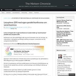 Lotusphere 2011 med egen parallell konferanse om social business « www.mynotesblog.com