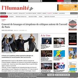 Concert de louanges et irruptions de critiques autour de l'accord de Paris