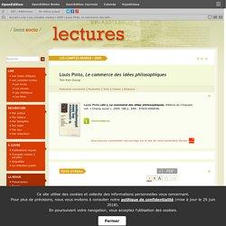 Louis Pinto, Le commerce des idées philosophiques