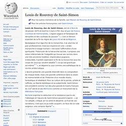 Louis de Rouvroy de Saint-Simon
