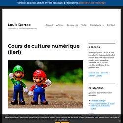 Louis Derrac - Cours de culture numérique (Ileri - 2019)