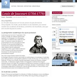 Louis de Jaucourt (1704-1779)