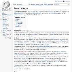 Louis Lapicque
