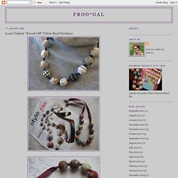 """Louis Vuitton """"Knock Off"""" Fabric Bead Necklace"""