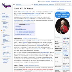 Louis XVI de France