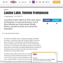 Article Libération - Louise Labé, femme trompeuse