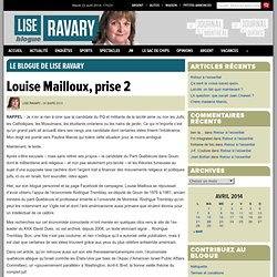 Louise Mailloux, prise 2