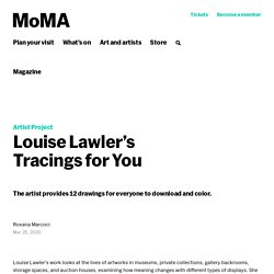 Les coloriages de Louise Lawler (MoMA)