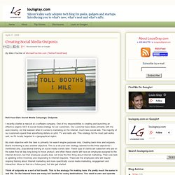 Creating Social Media Outposts - louisgray.com