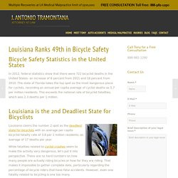 Louisiana 2nd Deadliest State for Bicyclists - Monroe, LA Attorney
