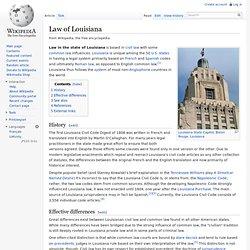 Law of Louisiana