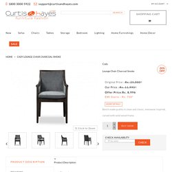 Buy Cady Lounge Chair Charcoal Smoke online at best price.