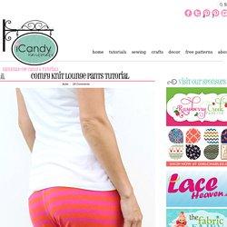 Comfy Knit Lounge Pants Tutorial - iCandy handmade
