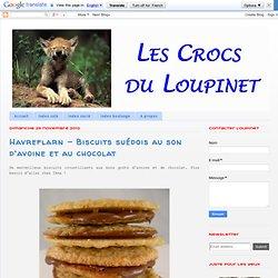 Havreflarn - Biscuits suédois au son d'avoine et au chocolat