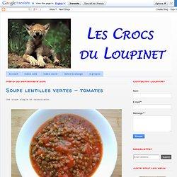 Soupe lentilles vertes - tomates