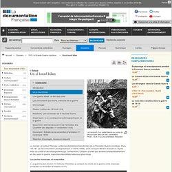 Un si lourd bilan - 1918, la Grande Guerre s'achève... - Dossiers
