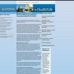 Lourdes Health System: eHealth Talk