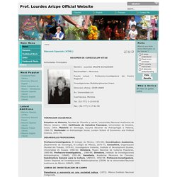 Prof. Lourdes Arizpe Official Website