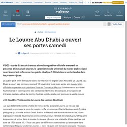 Le Louvre Abu Dhabi a ouvert ses portes samedi