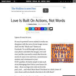 Love Is Built On Actions, Not Words