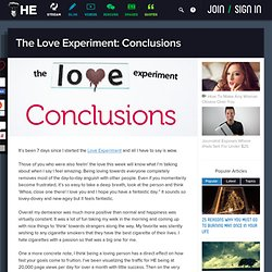 The Love Experiment: Conclusions