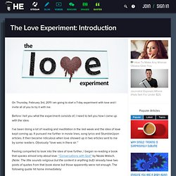 The Love Experiment: Introduction