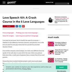 Love Languages: 5 Types and How to Find Yours