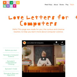 Love Letters to Computers