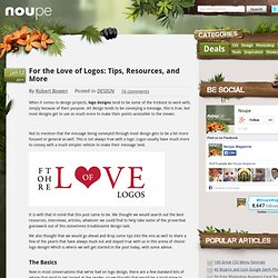 For the Love of Logos: Tips, Resources, and More - Noupe Design Blog