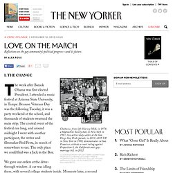 Alex Ross: Love on the March