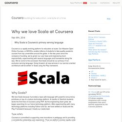 Why we love Scala at Coursera - Coursera Technology