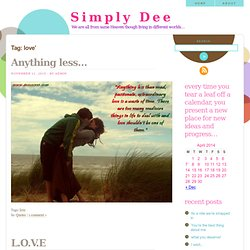 love & Simply Dee