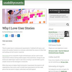 Why I Love User Stories