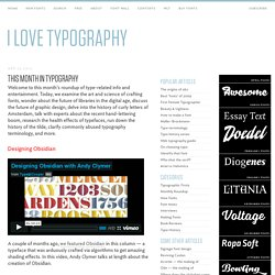 This Month in Typography