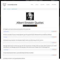 Albert Einstein Quotes - 160 Quotes by Albert Einstein