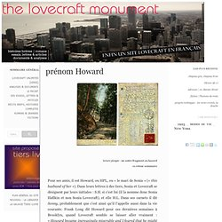 The Lovecraft Monument : prénom Howard