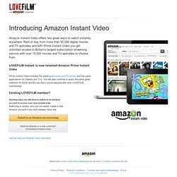 LOVEFiLM Instant | Watch movies online instantly