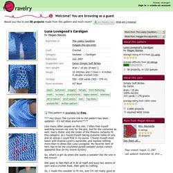 Luna Lovegood's Cardigan pattern by Megan Nieves