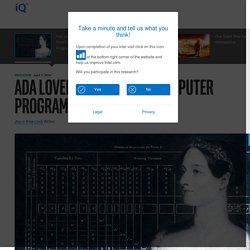 Ada Lovelace: The First Computer Programmer
