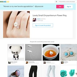 Lovely Small Chrysanthemum Flower Ring