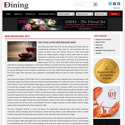 THAI FOOD LOVES NEW ZEALAND WINE – Bangkok Best Dining