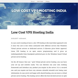 Low Cost VPS Hosting India - Low Cost VPS Hosting India
