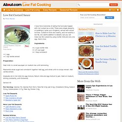 Low Fat Custard Sauce Recipe - How to Make Low Fat Custard