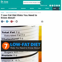 7 Low-Fat Diet Risks You Need to Know About!