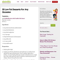 Low Fat Desserts - Healthy Eating Ideas