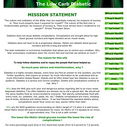 www.lowcarbdiabetic.co.uk - Mission Statement