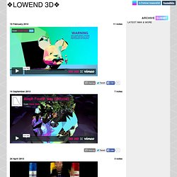 ❖ LOWEND 3D ❖ — blog & forum devoted to innovative use of 3d software