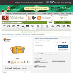 Lowepro DryZone Duffle Bag 20L (Yellow) LP36579 B&H Photo Video