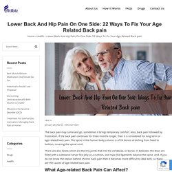 Lower Back And Hip Pain On One Side