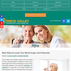 Best Ways to Lower Your Blood Sugar Level Naturally
